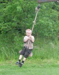 Homemade -rope-swing